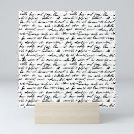 Ancient Vintage Handwriting Art Mini Art Print