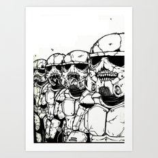 The Undead Troopers Art Print