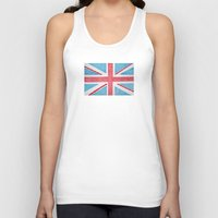 uk Tank Tops featuring UK Flag by sinonelineman