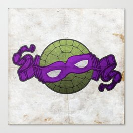 the purple turtle Canvas Print