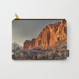 Capitol Reef - Apricot Trees and Red Rock Wall Carry-All Pouch