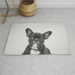 Bulldog Puppy - Black & White Rug