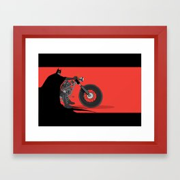 bat bike  Framed Art Print