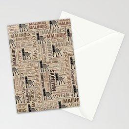 Malinois - Belgian shepherd - Mechelaar Stationery Cards