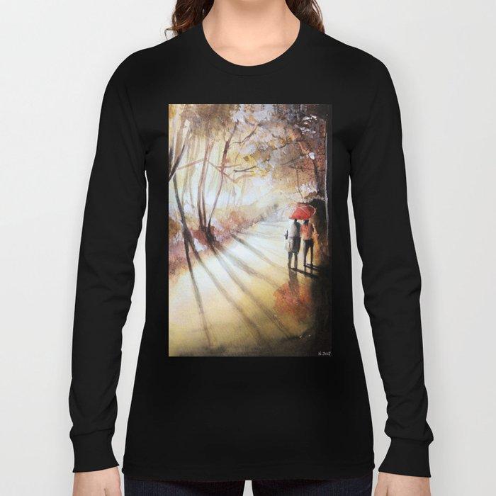 Break in the clouds - watercolor Long Sleeve T-shirt