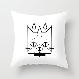 head of a cat vector icon Throw Pillow