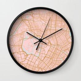 Tokyo map, Japan Wall Clock