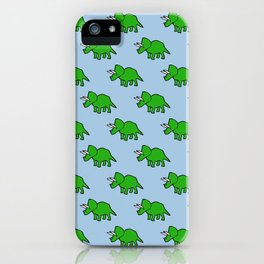 Cute Triceratops pattern iPhone Case