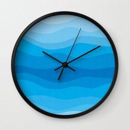 Geometric landscape 09 Wall Clock