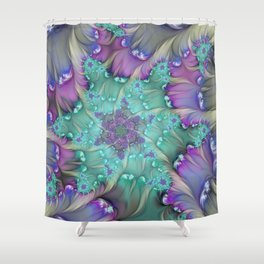 Find Yourself, Abstract Fractal Art Shower Curtain