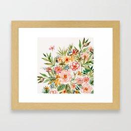 SMELLS LIKE LOVE IN ALL FORMS Floral Framed Art Print