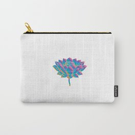 Blue Rainbow Lotus Holly Flower Carry-All Pouch
