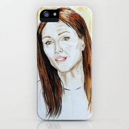 Julianne Moore Portrait iPhone Case