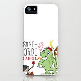 Sant Jordi iPhone Case