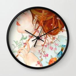 Under the cherrry blossom Wall Clock
