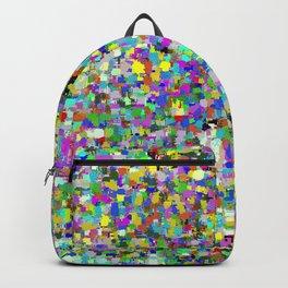 Da People Glitch Pattern Backpack