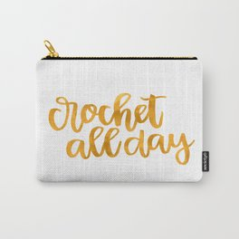 Crochet All Day - Mustard Carry-All Pouch