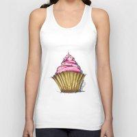 cupcake Tank Tops featuring Cupcake by Svitlana M