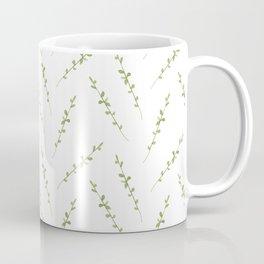 Watercolor seamless pattern of leaves. Herbal background. Hand drawn botanical illustration Coffee Mug