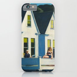 Edward Hopper - Second Story Sunlight - Minimalist Exhibition Art Poster iPhone Case