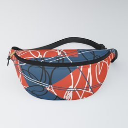 Deconstructed Hexagons Fanny Pack