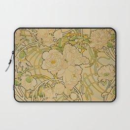 Alphonse Mucha - Peonies Laptop Sleeve