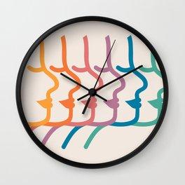 Boca Silhouettes Wall Clock
