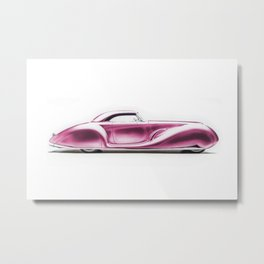 Vintage 1934 pink Packard Eight 2/4-Passenger Coupe Metal Print