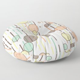 Circles and lines Floor Pillow
