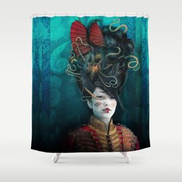 Queen of the Wild Frontier Shower Curtain