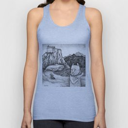 The Whale, The Castle & The Smoking Cat Unisex Tank Top