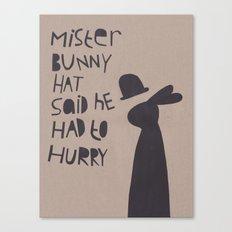Mister Bunny Hat Canvas Print