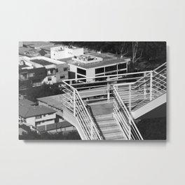 Getty Museum Contrast Stairs Metal Print