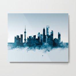 Shanghai Skyline Metal Print