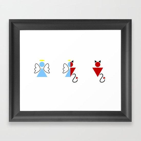 Dengel (Angel + Devil) Framed Art Print