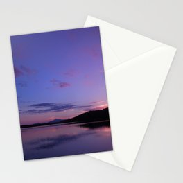 A Maine Pond Sunset Stationery Cards