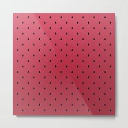 Watermelon Minimal Pattern Metal Print