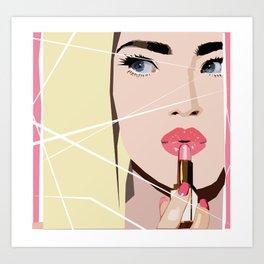 Lipstick Girl Art Print