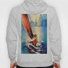 Yacht in the wind Hoody