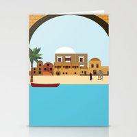 arab Stationery Cards featuring Arab city by Design4u Studio