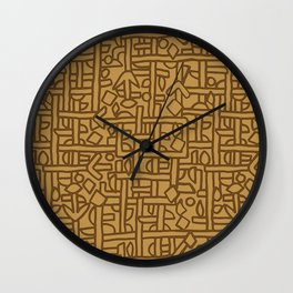 Ornament ethnic Wall Clock