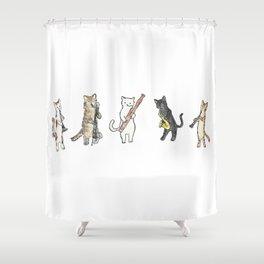 Reed Meowtet Shower Curtain