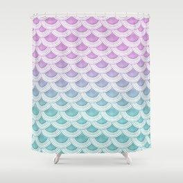 Pastel Mermaid Scales #1 #pastel #decor #art #society6 Shower Curtain