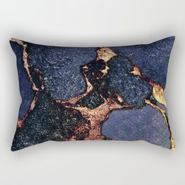 INDIGO & GOLD GEMSTONE Rectangular Pillow