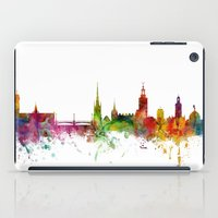 sweden iPad Cases featuring Stockholm Sweden Skyline by artPause