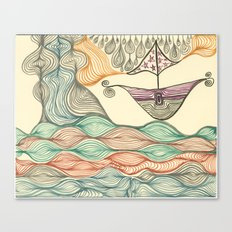 Hundertwasser's last voyage Canvas Print