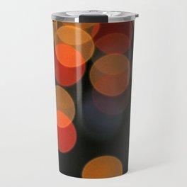 Blurred Orange Lights Travel Mug