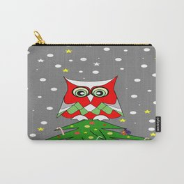 Tree Top Owl - Merry Christmas Carry-All Pouch