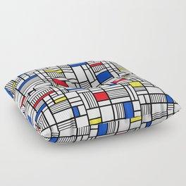 Map Lines Mond Floor Pillow