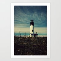 lighthouse Art Prints featuring Lighthouse by Yellowstone Photo Studio